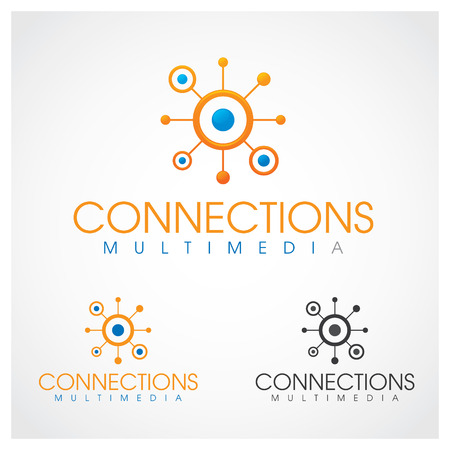 linked: Connections Multimedia Connections multimedia  design template  Illustration