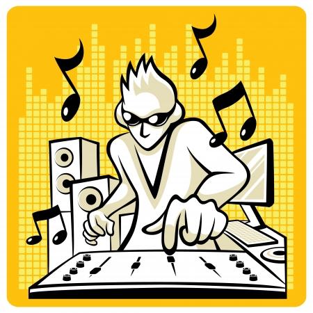 Vector Music DJ Music DJ in action