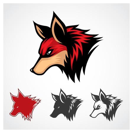 レッド フォックス シンボル レッド フォックス シンボルのロゴのテンプレートをベクトルします。
