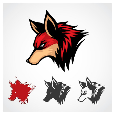 Vector Red Fox Symbol Red fox symbol logo template  Vector