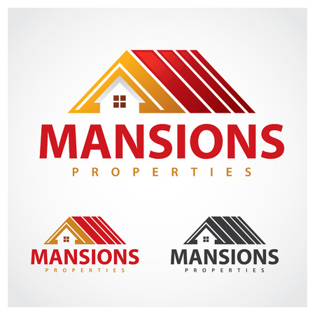red roof: Properties Symbol Mansion properties  design template