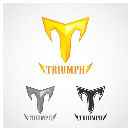 Triumph Gold Symbol Illustration
