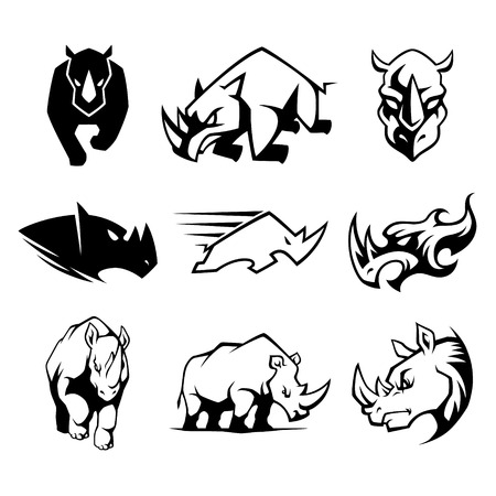 Rhinoceros Symbol Illustration