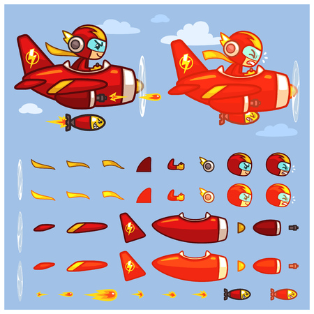 scrolling: Red Thunder Plane