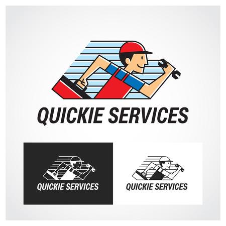 labourer: Service Symbol. Suitable for professional design use.