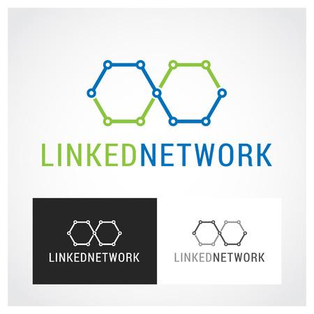 linked services: Network Symbol. Suitable for professional design use. Illustration