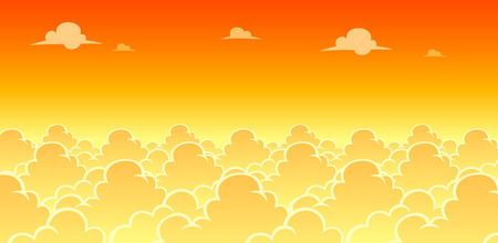 Sky Evening Game Background. Suitable for side scrolling, action, and adventure game.