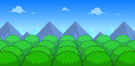 Forest Day Game Background. Suitable for side scrolling, action, and adventure game.