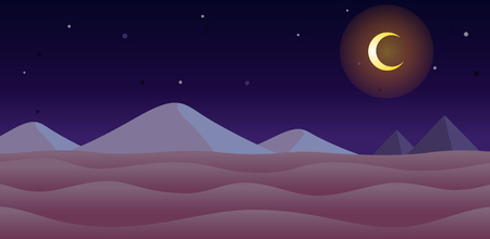Desert Night Game Background. Suitable for side scrolling, action, and adventure game.