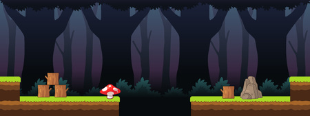 spooky forest: Spooky Forest Scenes Game Background. Suitable for side scrolling, action, and adventure game.