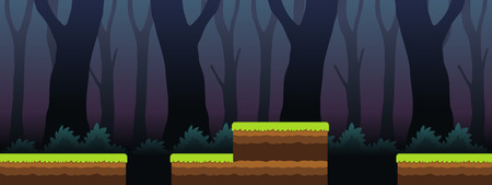 scrolling: Spooky Forest Scenes Game Background. Suitable for side scrolling, action, and adventure game.