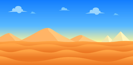 Desert Day Game Background. Suitable for side scrolling, action, and adventure game. Illustration