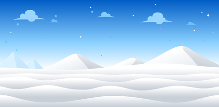 Snow Day Game Background. Suitable for side scrolling, action, and adventure game. Stock Vector - 67810058