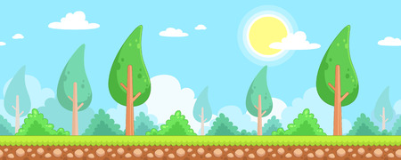 scrolling: Nature Scenes Game Background. Suitable for side scrolling, action, and adventure game.