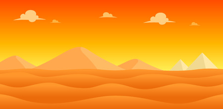 scrolling: Desert Evening Game Background. Suitable for side scrolling, action, and adventure game.