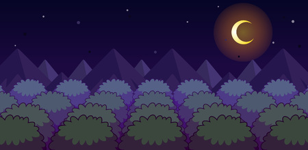 Forest Night Game Background. Suitable for side scrolling, action, and adventure game.