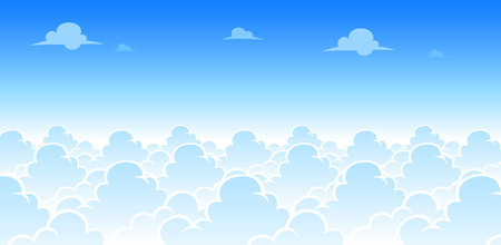 Sky Day Game Background. Suitable for side scrolling, action, and adventure game.
