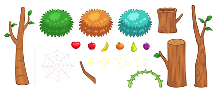 scrolling: Miscellaneous Jungle Items Game Sprites. Suitable for side scrolling, action, and adventure game.