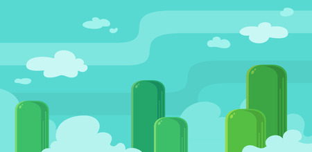 scrolling: Butte Hills Game Background. Suitable for side scrolling, shooting, action, and adventure game.