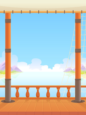 Ship Deck Game Background. Suitable for side puzzle, shooter, and  casual game.