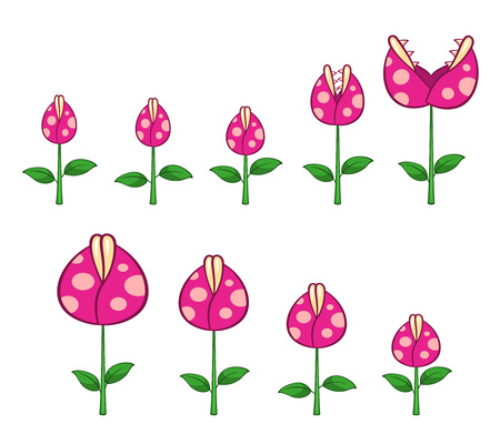 Dangerous Plant Game Sprites. Suitable for side scrolling, action, and adventure game.