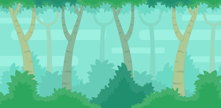 Jungle Game Background. Suitable for side scrolling, action, and adventure game.