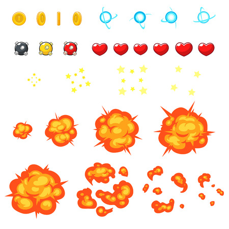 Miscellaneous Items Game Sprites. Suitable for side scrolling, shooting, action, and adventure game.