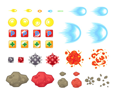 scrolling: Miscellaneous Items Game Sprites. Suitable for side scrolling, shooting, action, and adventure game.