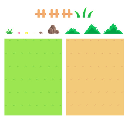 Nature Game Background. Suitable for tapping, action, and shooting game. 向量圖像