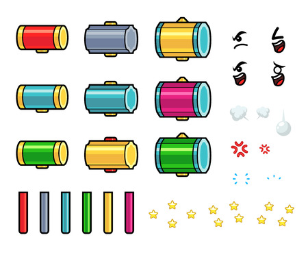 metal parts: Hammer Game Sprites. Suitable for tapping, action, and shooting game.