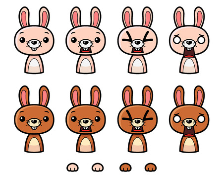 tapping: Bunny Game Sprites. Suitable for tapping, action, and shooting game.