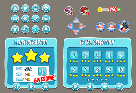 graphical user interface: Game User Interface Templates. Pack of graphical user interface templates to make a game.