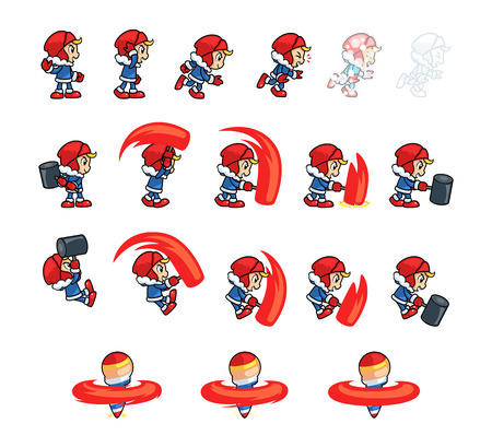 tapping: Eskimo Boy Game Sprites. Suitable for tapping, side scrolling, action, and adventure game.