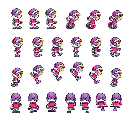 Eskimo Girl Game Sprites. Suitable for tapping, side scrolling, action, and adventure game.