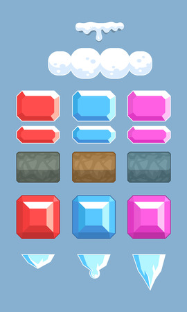 tapping: Miscellaneous Objects Game Sprites. Suitable for tapping, side scrolling, action, and adventure game. Illustration