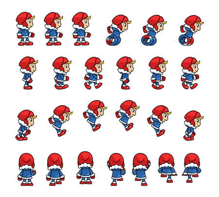 scrolling: Eskimo Boy Game Sprites. Suitable for tapping, side scrolling, action, and adventure game.