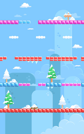 Nature Snow Game Background. Suitable for tapping, side scrolling, action, and adventure game.