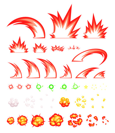 scrolling: Miscellaneous Slash Game Sprites. Suitable for side scrolling, action, and adventure game. Illustration