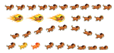 scroller: Puppy Dog Game Sprites  Suitable for side scrolling, action, adventure, and endless runner game.