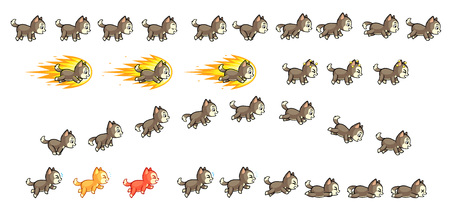 scrolling: Lucky Husky Game Sprites  Suitable for side scrolling, action, adventure, and endless runner game.