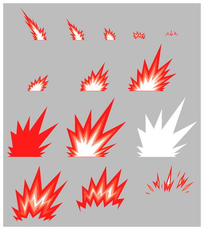 Miscellaneous Slash Game Sprites. Suitable for side scrolling, action, and adventure game. Illustration