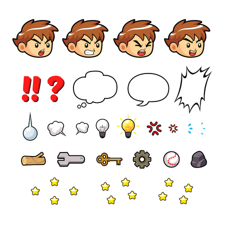 scroller: Courageous Boy Game Sprites  Suitable for side scrolling, action, adventure, and endless runner game.