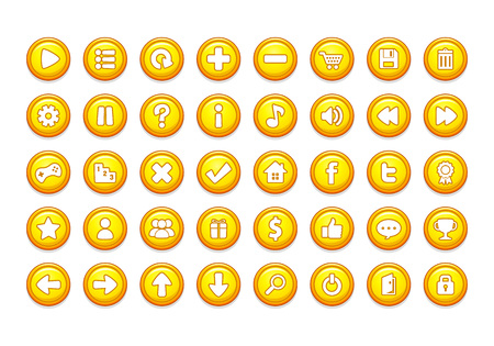 Pack of game button templates design. Illustration