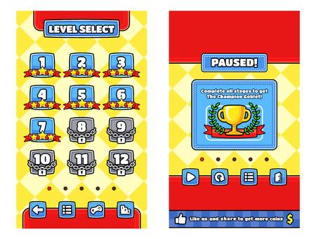 Paquete de plantillas de interfaz gráfica de usuario para hacer un juego.