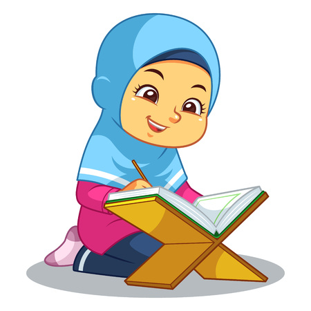 Reciting Al-Qur'an.