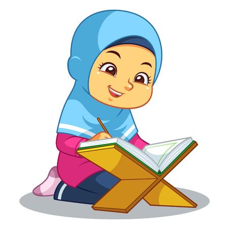 Rezitieren des Al-Qur'an.