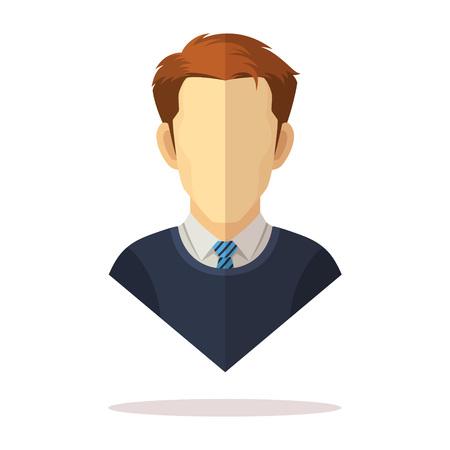 Avatar di uomini europei Vettoriali