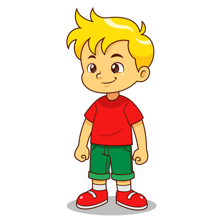 Junge Zeichentrickfigur