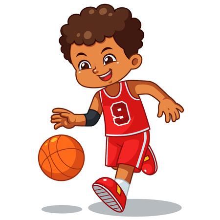 Basket Ball Boy Performing Dribble.