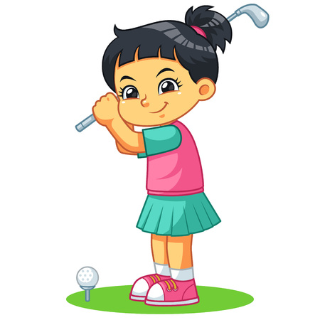 Golfer Girl Ready To Shoot.